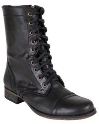 Steve Madden - Troopa Leather Combat Boots - Lyst
