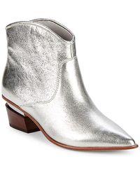 Donna Karan - Blane Metallic Leather Booties - Lyst