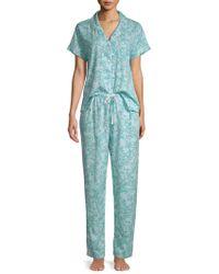Karen Neuburger - Two-piece Floral Pyjama Set - Lyst