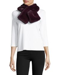 Lord & Taylor - Pull-through Faux Fur Scarf - Lyst