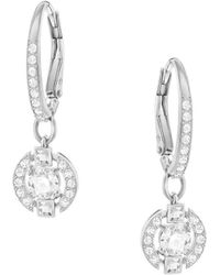 Swarovski - Sparkling Dance Round Crystal Drop Earrings - Lyst