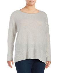 Lord & Taylor - Plus Plus Relaxed Cashmere Pullover - Lyst