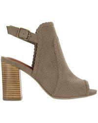 MIA - Pat Faux Suede Ankle Strap Sandals - Lyst
