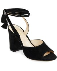 Nine West - Bellermo Suede Open-toe Heels - Lyst
