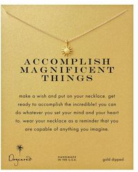 Dogeared - 'accomplish Magnificent Things' Starburst Charm Necklace - Lyst