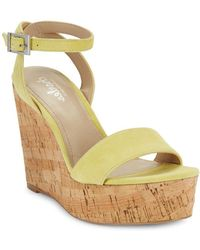Charles David - Lilla Suede Wedge Sandals - Lyst