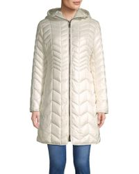 Kenneth Cole - Quilted Chevron Coat - Lyst