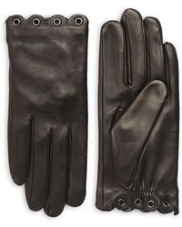 Kate Spade - Scallop Grommets Leather Gloves - Lyst