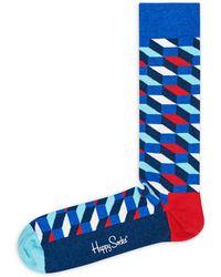 Happy Socks - Filled Optic Socks - Lyst