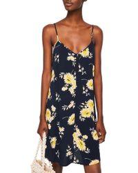 Mango - Strap Flowy Dress - Lyst