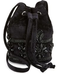 Steve Madden - Beaded Velvet Bucket Bag - Lyst