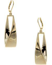 Anne Klein - Goldtone Linear Leverback Earrings - Lyst
