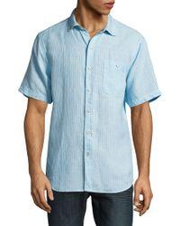 Tommy Bahama - Sand Linen Dobby Camp Shirt - Lyst