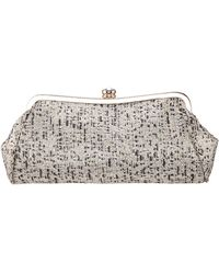 Nina - Metallic Tweed Frame Clutch - Lyst