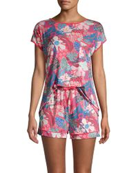 Sesoire - Tropical 2-piece Pyjama Set - Lyst