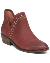 Lucky Brand - Kendy Leather Ankle Booties - Lyst