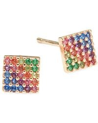 Lord & Taylor - Rainbow Square Stud Earrings - Lyst