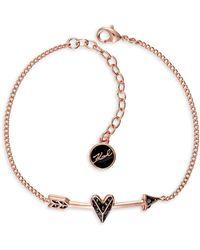 Karl Lagerfeld - Hearts & Arrows Bracelet - Lyst