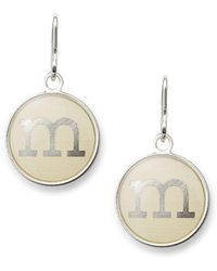 ALEX AND ANI - Initial M Necklace Charm - Lyst