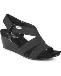 Anne Klein - Cabrini Metallic Strappy Sandals - Lyst