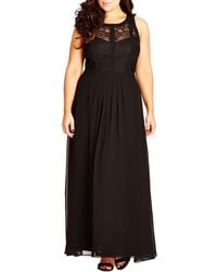 City Chic - Plus Lace A-line Gown - Lyst