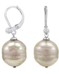 Majorica - Nuage Baroque Manmade Organic Drop Earrings - Lyst
