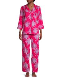 Sesoire - 2-piece Printed Cotton Pyjama Set - Lyst