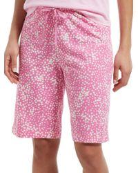Hue - Stipple Dot Sleep Bermuda Sleep Shorts - Lyst