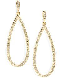 Nadri - Pave Teardrop Earrings - Lyst
