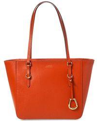 Lauren by Ralph Lauren - Saffiano Medium Shopped Bag - Lyst