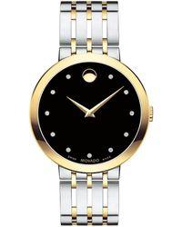 Movado - Esperanza Diamond Bracelet Watch - Lyst