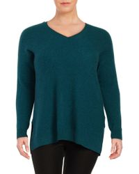 Lord & Taylor - Plus Textured Cashmere Tunic - Lyst