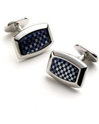 David Donahue - Sterling Silver Checkerboard Cuff Links - Lyst