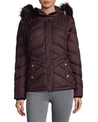 Marc New York - Faux Fur Trim Puffer Jacket - Lyst