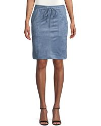 d6926d793 Jones New York - Faux-suede Drawstring Pencil Skirt - Lyst