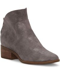 Lucky Brand - Lahela Suede Booties - Lyst