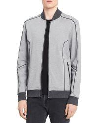 Calvin Klein - Heathered Bomber Sweater - Lyst