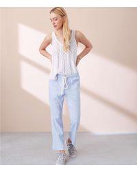 Lou & Grey - Crosshatch Garment Dye Pants - Lyst