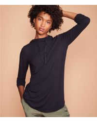 Lou & Grey - Softened Jersey Hoodie Top - Lyst