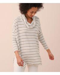 Lou & Grey | Striped Signaturesoft Slit Cowl Tunic | Lyst