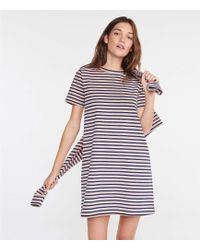 86b8effd61e Lyst - Lou   Grey Striped Muscle Tee Dress in White