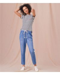 Lou & Grey - Roped Chambray Pants - Lyst