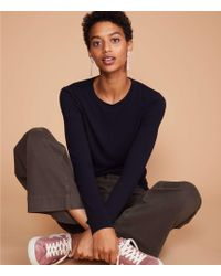 Lou & Grey - Softened Jersey Layering Tee - Lyst