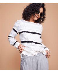 Lou & Grey - Striped Stitch Sweater - Lyst