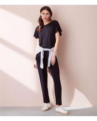 Lou & Grey - Signaturesoft Flutter Sleeve Jumpsuit - Lyst