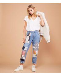 Lou & Grey - Patchwork Boyfriend Jeans - Lyst