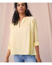 5f55e5dd Lou & Grey - Garment Dye Pleated Pop On Shirt - Lyst