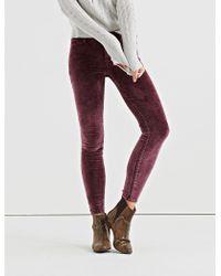 391a207f4bb Lucky Brand - Ava Mid Rise Skinny Velvet Pant - Lyst