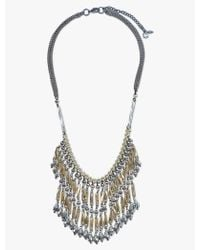 Lucky Brand - Gold And Grey Collar Necklace - Lyst