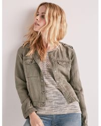 Lucky Brand - Collarless Utility Jacket - Lyst
